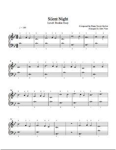 Silent Night Piano Sheet Music Intermediate Piano Sheet