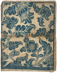 Dominoterie à décor floral (titre factice), Jean-Charles Didier, France, ca. 1750.