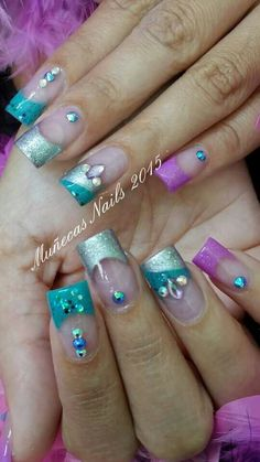 Acrylic nails by Carmen Enid Pedraza @ Muñeca's Nails Design