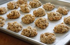 Banana Nut Oatmeal Cookies | Skinnytaste - I have been on an oatmeal cookie spree lately and these are the best ones I've made by far! I subbed out the walnuts for dark chocolate chips ~ tasted like banana bread, so yummy!