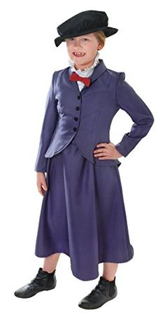 Large Girls Victorian Nanny Costume >>> Check out @