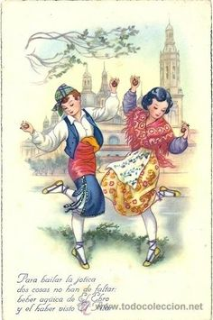 Spanish Fashion, Costumes, Dolls, Illustration, Cards, Painting, Vintage, Portugal, Folklore
