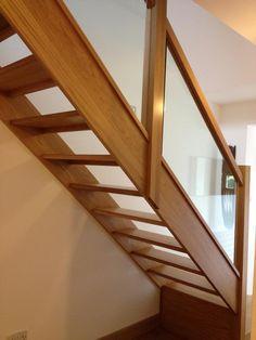 Glass Balustrade on Oak Open Plan Stairs Oak Stairs with Glass Balustrades Oak Handrails