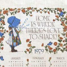 Vintage Holly Hobbie 1979 Linen Calendar by LinensandThings, $14.00