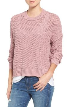 Madewell 'Thea' Seed Stitch Pullover available at #Nordstrom