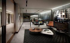 Garage Loft, Car Garage, Dream Garage, Design Garage, House Design, Garage Interior Design, Underground Garage, Casa Loft, Cool Garages