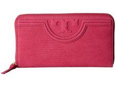 Tory Burch - Fleming Snake Zip Continental Wallet (Hibiscus Flower) Wallet Handbags