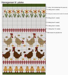 Hønsestrikk - chickenknitting: Hønegenser til påske