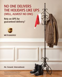 Sometimes, simple is perfect. In-store holiday message for UPS.
