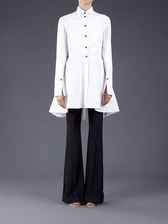 ALEXANDER MCQUEEN - Tuxedo shirt dress 7  Repinned by thecelestinecollection.com