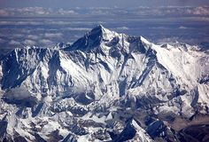 Mount Everest from the air en route from Bhutan to Delhi    By Iain Smith