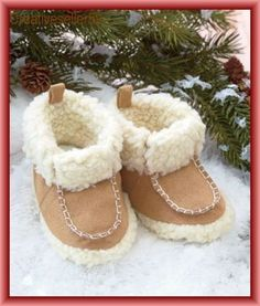 Baby-Booties-Brown-Micro-Suede-Faux-Shearing-Infant-6-to-9-Month-Non-Slip-Soles