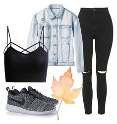 """""""Simple fall"""" by clothable on Polyvore featuring Topshop, RVCA and NIKE"""