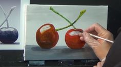 Beginners Acrylic | Still Life cherries Painting Techniques | painting f...