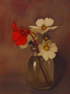 """Daily Paintworks - """"Lift Off 8 x 6 floral still li..."""" by Diane Hoeptner"""