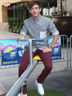Glee star Kevin McHale. he does an awesome job with that wheelchair acting!