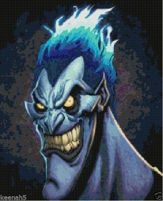 Disney's Hercules Hades Cross Stitch Pattern-Villains #KeenahsCrossStitch