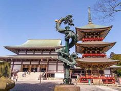 Daihondo & Sanju-no-to, Naritasan Temple, Narita,Japan.