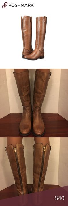 Steven Madden Arries Riding boots Leather gently used tall riding boots .s Steve Madden Shoes Winter & Rain Boots