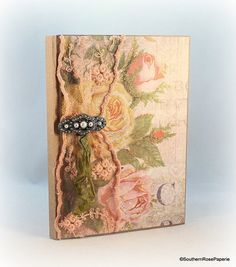Floral Journal, Cottage Chic Shabby Vintage Journal, Gardening Journal, Garden Journal, Travel Journal, Dream Journal, Meditation Journal