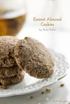 Easiest Almond Cookies Recipe by Oh She Glows   Maypurr