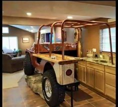 Jeep CJ kitchen, talk about a serious Jeep addiction lol