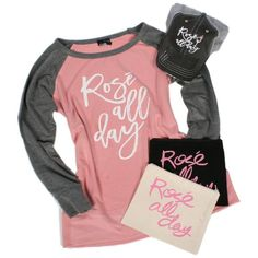KATYDID ROSE ALL DAY BUNDLE (SHIRT, COSMETIC BAG + HAT)