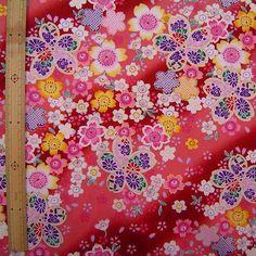 Japanese Kimono design fabric one yard by HanamiBoutique on Etsy, $13.60