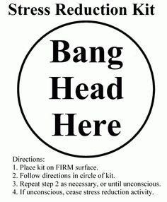My stress reduction kit