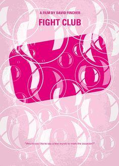 No027 My fight club minimal movie poster Digital Art