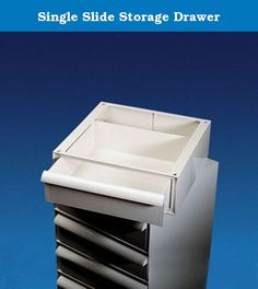 """Single Slide Storage Drawer. Drawer for Storage System. May be used to store 1000 slides in slide trays (Cat No. 1161-0000) or as convenient storage cabinet. Made of ABS. Dimensions of drawer inside are approximately 14 1/4"""" W x 14 1/4"""" L x 4 1/4""""H. Cover for drawer must be purchased separately under 1167-0000. Product Dimensions (L x W x H): 17.375 x 16.5 x 5.96 in. Made in Italy."""