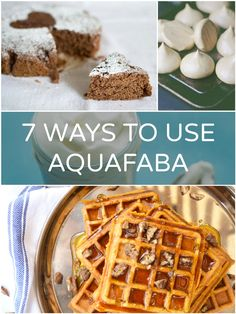 Ways to use aquafaba