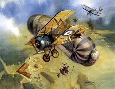 Sopwith Camels go after an Observation Balloon