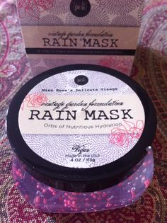 Rain Mask by Perfectly Posh I love the packaging. I can't wait to try this one! http://madeupgirl-madeupgirl.blogspot.com/