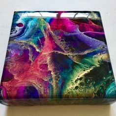 Acrylic Pouring Recipe - DecoArt Pouring Medium TESTING with 3 fluid painting techniques. Tutorial by Olga Soby from Smart Art Materials Art Resin, Resin Artwork, Resin Crafts, Acrylic Pouring Art, Acrylic Art, The Coasters, Alcohol Ink Art, Happy Art, Art Abstrait