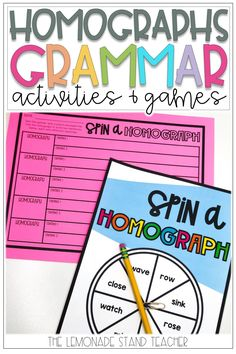 Need some homographs activities for 2nd or 1st grade students? Click the pin to check out these grammar activities, games, worksheets, and other printables for practicing homographs! Grammar Games, Grammar Activities, Word Work Activities, Reading Activities, Teaching Reading, Teaching Ideas, Learning, 3rd Grade Classroom, Primary Classroom