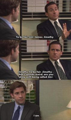 The Office, one of my favorite Jim/Michael moments. Jimothy. lol