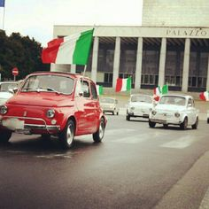 Fiat500 Parade in Rome