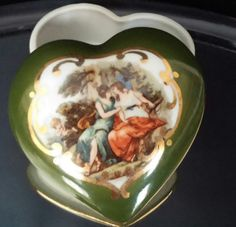 Heart Shaped Trinket Box Jewelry Organizer by frankiesfrontdoor, $18.00