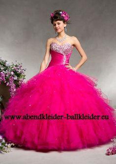 Bustier Abend - Ballkleid in Pink