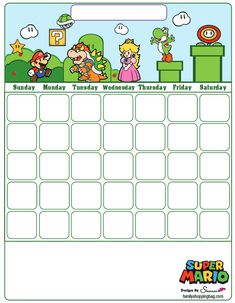 Mario Printable Coloring Pages, Invitations & Super Mario Birthday, Mario Birthday Party, Mario Party, Super Mario Brothers, Super Mario Bros, Fete Laurent, Mario Crafts, Planners, Mario And Luigi