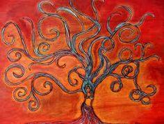 Rooted in Strength and Beauty por Anna Alvarado  Sra. Souza  Me gustan los colores y la imagen de la mujer dentro del arbol.