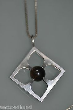 Elis-Kauppi-Kupittaan-para-Collar-De-Plata-Original-Necklace-Silver-Vintage