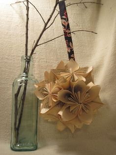 Life of the Party  Kusudama Origami Hanging Ball by ReaDo on Etsy, $20.00