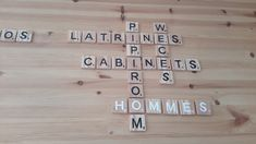Scrabble Letters, Natural Wood, Hand Made