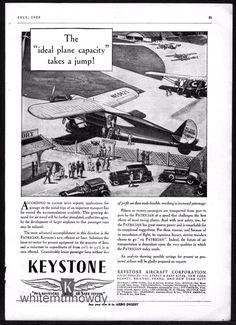 1929 KEYSTONE PATRICIAN 20 passenger Antique Aircraft Plane AD