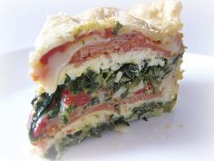 Pizza Rustica, an Easter MUST at our house.  Never tried with spinach.