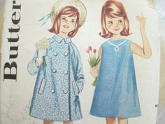 1960s Butterick 3023 Girls Coat and A Line Dress by EmSewCrazy