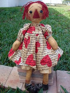 Raggedy Ann doll sewing pattern