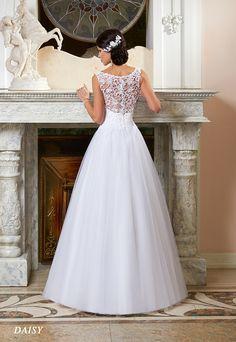 Suknie ślubne Fasson, Wedding dresses by Dorota Wróbel, Suknia Daisy, tył, plecy koronkowe